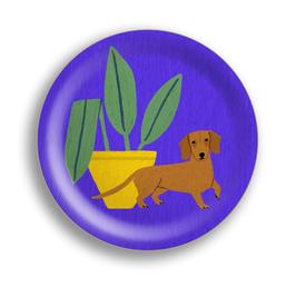Mini-Tablett Hund violett