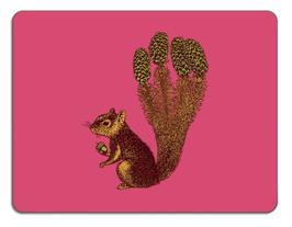 Untersetzer Eichhörnchen pink