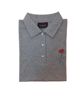 Polo golf gris chine adultes