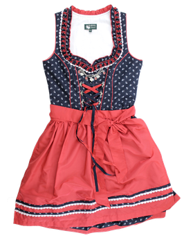 Dirndl Attersee, marine/rot