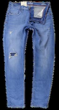 Destroyed Jeans, blau