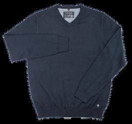 Strickpullover, marineblau uni