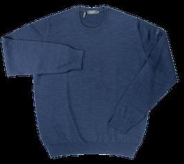 Strickpullover, blau uni