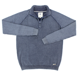 Sweat-Troyer, jeansblau