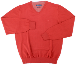 Strickpullover, rot