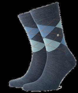 Kurzstrümpfe, jeansblau-türkis-blau