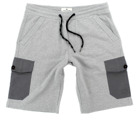 Sweat-Cargo-Short, hellgrau