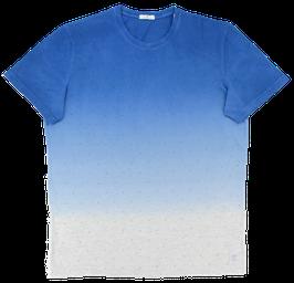 T-Shirt, blau-grau