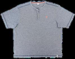 XXL Henley T-Shirt, jeansblau