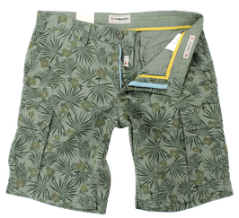 Bermuda-Short, khaki gemustert