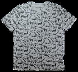 T-Shirt, grau - Tiere