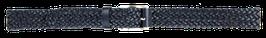 Flechtledergürtel, dunkelblau