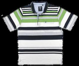 Polo, grün-blau-weiß gestreift