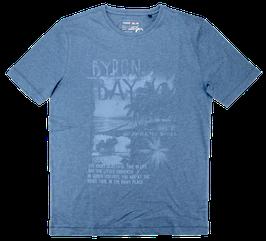 T-Shirt, jeansblau uni
