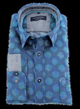 Sporthemd, blau-türkis gepunktet