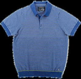 Polo, blau-weiß gestreift
