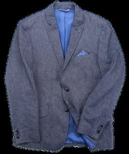 Leinen Sakko, blau gepunktet
