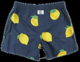 Boxershort, Zitrone marineblau
