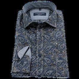 Sporthemd, blau mit Paisley Muster