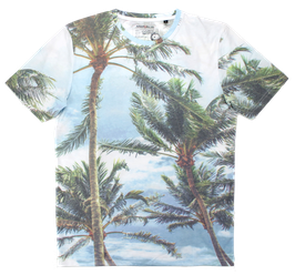 T-Shirt, Palmen-Muster