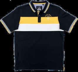 Polo, dunkelblau-gelb-weiß