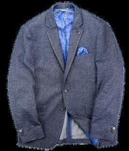 Leinen Sakko, blau