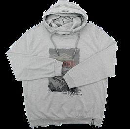 Kapuzensweatshirt, hellgrau