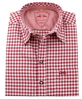 Oktoberfest-Hemd Alex, rot kariert