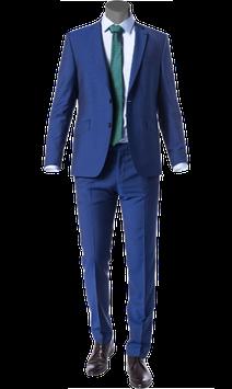Anzug, blau meliert