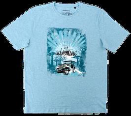 T-Shirt, aquablau