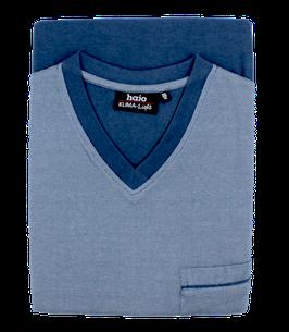 Schlafanzug, jeansblau uni