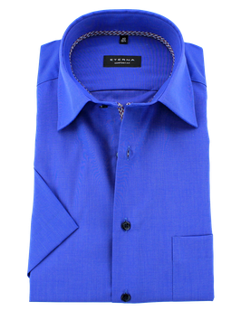 City-Hemd 1/2, blau