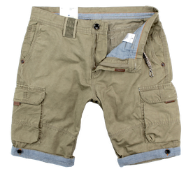 Cargo-Short, beige - used look