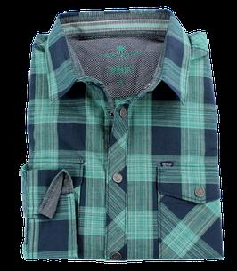 Sporthemd, grün-blau kariert