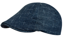 Kappe, blau gemustert