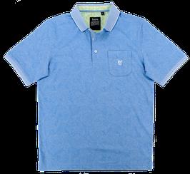 Polo, blau gemustert