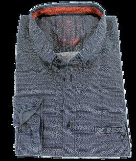 XXL Sporthemd, blau quer gestreift