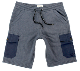 Sweat-Cargo-Short, jeansblau