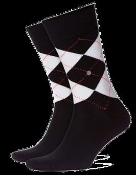 Kurzstrümpfe, schwarz-weiß-rot gemustert