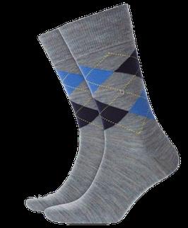 Kurzstrümpfe, hellgrau-marineblau-blau