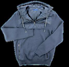 Kapuzensweatshirt, blau uni