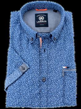 Sporthemd 1/2, blau gemustert