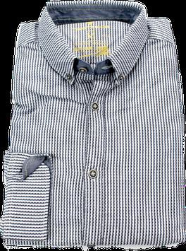 Sporthemd, weiß-blau gestreift