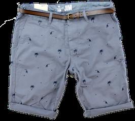 Bermuda-Short, jeansblau, Palmen Muster