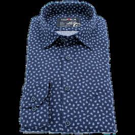 Sporthemd, blau gemustert
