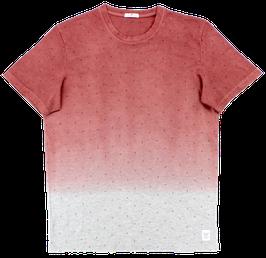 T-Shirt, rot-grau