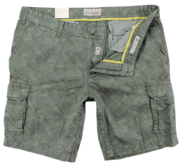 Cargo-Short, oliv, Camouflage-Muster