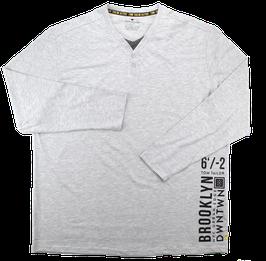 XXL Shirt, hellgrau