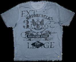 T-Shirt, verwaschen grau