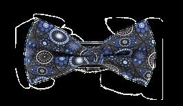Fliege, braun-blau gemustert